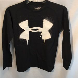 Under Armour kids size YSM black long sleeve tee